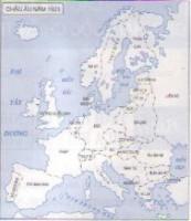 Dựa vào lược đồ trên, hãy so sánh sự thay đổi lãnh thổ các nước châu Âu năm 1923 với năm 1914