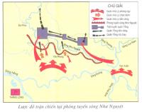 Em hãy kể lại trận chiến tại phòng tuyến sông Như Nguyệt.