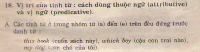 Vị trí của tính từ : cách dùng thuộc ngữ (attributive) và vị ngữ (predicative)
