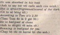 Các giới từ dùng với tính từ và phân từ