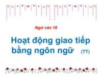 Hoạt động giao tiếp bằng ngôn ngữ trang 14 SGK Ngữ văn 10