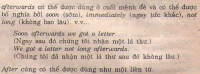 Thời gian: to, till/until, after, afterwards (Trạng từ)