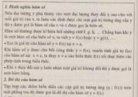 Lý thuyết nhắc lại và bổ sung các khái niệm về hàm số.