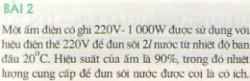Bài 2 trang 48 sgk Vật lí 9